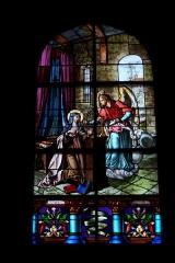Eglise Saint-Etienne - Deutsch: Bleiglasfenster in der Kirche Saint-Étienne in Étréchy im Département Essonne (Île-de-France), Darstellung: Verkündiging an Maria