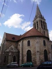 Eglise Notre-Dame - Français:   Chevet et clocher de l\'église Notre-Dame-de-l\'Assomption de La Ferté-Alais (91)