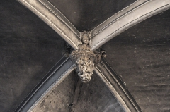 Eglise Saint-Martin - Deutsch: Katholische Pfarrkirche Saint-Martin in Longjumeau im Département Essonne (Île-de-France/Frankreich), Schlussstein