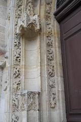 Eglise Saint-Martin - Deutsch: Katholische Pfarrkirche Saint-Martin in Longjumeau im Département Essonne (Île-de-France/Frankreich), Portal aus dem 15. Jahrhundert, Skulpturennische