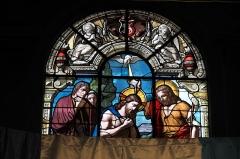 Eglise Saint-Martin - Deutsch: Katholische Pfarrkirche Saint-Martin in Longjumeau im Département Essonne (Île-de-France/Frankreich), Bleiglasfenster, Darstellung: Taufe Jesu