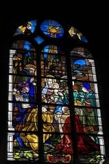 Eglise Saint-Martin - Deutsch: Katholische Pfarrkirche Saint-Martin in Longjumeau im Département Essonne (Île-de-France/Frankreich), Bleiglasfenster, Darstellung: Anbetung der Heiligen Drei Könige