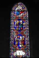 Eglise Saint-Martin - Deutsch: Katholische Pfarrkirche Saint-Martin in Longjumeau im Département Essonne (Île-de-France/Frankreich), Bleiglasfenster, Darstellung: Szenen aus dem Marienleben