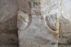 Eglise - Deutsch: Katholische Pfarrkirche Saint-Germain in Saclas im Département Essonne (Île-de-France/Frankreich), Eckblatt