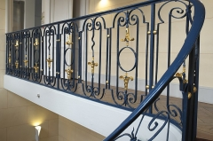 Pavillon de Vendôme - Deutsch: Pavillon de Vendôme in Clichy im Département Hauts-de-Seine (Île-de-France/Frankreich), Treppengeländer