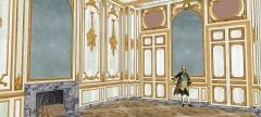 Domaine de Bellevue : ancien château - Français:   Restitution du deuxième salon, vers 1770. Vue du côté des boiseries.