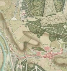 Domaine de Bellevue : ancien château - Français:   Meudon, emplacement du futur château de Bellevue. Vers 1740.
