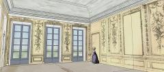 Domaine de Bellevue : ancien château - Français:   Schéma restituant le volume du Grand Salon au temps de Mesdames, vers 1785.