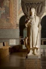 Cathédrale Sainte-Geneviève - Saint-Maurice - Sculpture de sainte Geneviève enfant par fr:Eugène Bénet