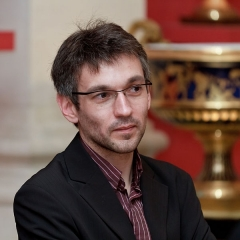 Domaine national de Saint-Cloud : ancienne école nationale de céramique - Français:   Rémi Mathis lors de la cérémonie de remise des prix de Wiki Loves Monuments 2012.
