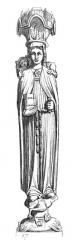 Ancienne abbaye Sainte-Geneviève, actuel lycée Henri IV - English: Statues of Saint Genevieve