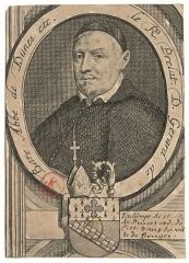 Ancienne abbaye Sainte-Geneviève, actuel lycée Henri IV - English: Engraved portrait of Gerard de Baere