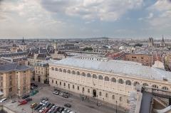 Ancienne abbaye Sainte-Geneviève, actuel lycée Henri IV - Polski: Paryż, Biblioteka św. Genowefy widziana z Panteonu.