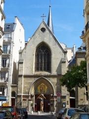 Ancien collège de Beauvais, actuelle église orthodoxe roumaine - English: Église des Saints-Archanges at rue Jean-de-Beauvais in Paris