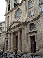 Eglise Saint-Jacques-du-Haut-Pas -  Church:Saint-Jacques-du-Haut-Pas (rue saint-Jacques - Paris Ve arrondissement). Exterior of the church