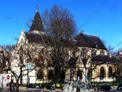 Eglise Saint-Médard - English:   The church Saint-Médard, at the corner rue Censier/rue Mouffetard in Paris