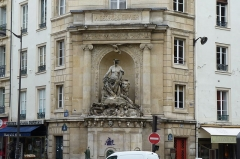 Fontaine Cuvier -  The Cuvier Fountain from Rue Linné.