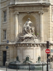 Fontaine Cuvier - English: The Cuvier Fountain at the crossing point of rue Linné and rue Cuvier in Paris