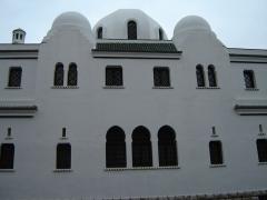 Mosquée de Paris et Institut musulman -  Détail de la Mosquée de Paris (rue Daubenton).  Photo prise par mes soins le 15 décembre 2005.