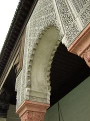 Mosquée de Paris et Institut musulman -  Paris Mosque, Plaster carvings and arches in first courtyard.