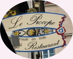 Café Le Procope - English: Le Procope sign