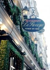 Café Le Procope -  The Sign of the Café Procope founded in 1686 by  Francesco Procopio dei Coltelli in Paris