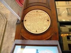 Café Le Procope - English: Restaurant Le Procope, Commemoration plate, Paris