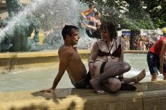 Fontaine de Carpeaux -  Paris Gay Pride 2012
