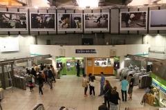 Métropolitain, station Saint-Michel -  Saint Michel station, Paris.