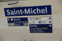 Métropolitain, station Saint-Michel -  Saint-Michel metro station, Paris.