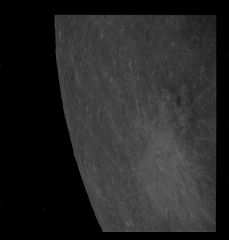 Académie de Médecine -  Apollo 8 Hasselblad image from film magazine 12/D - Lunar Orbit