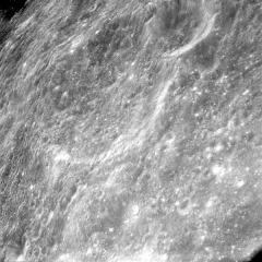 Académie de Médecine - English: D'Arsonval and its larger companion Danjon were captured in this shadowless orbital photograph made during the mission of Apollo 8: AS8-17-2739 image.