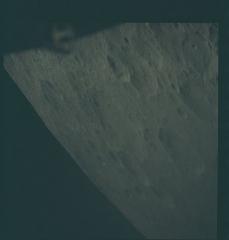 Académie de Médecine -  Apollo 13 Hasselblad image from film magazine 60/L - LM Extraction, Trans-Lunar Coast