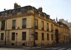 Hôtel de Clermont, actuellement Ministère des relations avec le Parlement - Deutsch: Hôtel de Clermont in Paris (7. Arrondissement), 69 rue de Varenne/6, 8 rue Barbet-de-Jouy