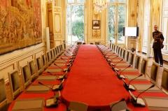 Ancien hôtel Matignon - Hôtel Matignon lors des journées du patrimoine. Salle du conseil.