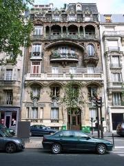 Immeuble - English: Facade of No. 29 Avenue Rapp, Paris, France.