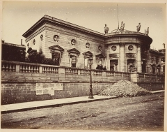 Ancien hôtel de Salm, actuel Palais de la Légion d'Honneur - English: Les Ruines de Paris et de ses Environs 1870-1871: Cent Photographies: Premier Volume. Par A. Liébert, text par Alfred d'Aunay. Author: Alfred d'Aunay (French) Date: 1870–71 Medium: Albumen silver prints from glass negatives Dimensions: Images approx.: 19 x 25 cm (7 1/2 x 9 13/16 in.), or the reverse Mounts: 32.8 x 41.3 cm (12 15/16 x 16 1/4 in.), or the reverse Classification: Albums Credit Line: Joyce F. Menschel Photography Library Fund, 2007 Accession Number: 2007.454.1.1–.33