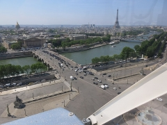 Pont de la Concorde - English: Grande Roue de Paris - From the Palais Bourbon to the Eiffel tower (Paris, 1st arrond., France)