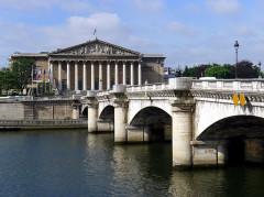 Pont de la Concorde - English: Bourbon palace and Concorde bridge - Paris