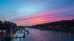 Pont d'Iéna -  La Seine Rose