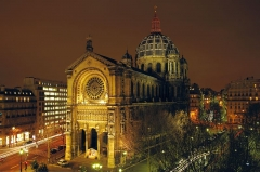 Eglise Saint-Augustin - English:   St Augustin (Paris) at night.