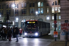 Gare Saint-Lazare -  Irisbus Arway de la SNCF sur le Noctilien N151 à son terminus Gare Saint-Lazare