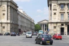 Hôtel de Coislin - English: Rue Royale and Église de la Madeleine from Place de la Concorde, Paris.