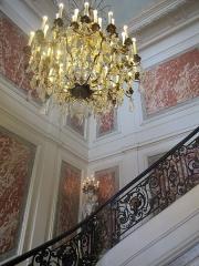 Hôtel du Ministère de l'Intérieur - Français:   Escalier d\'honneur de l\'hôtel de Beauvau (ministère français de l\'Intérieur). Photo prise à l\'occasion des journées européennes du patrimoine 2012.