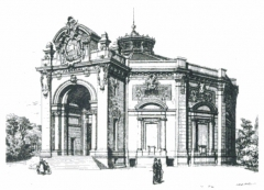 Théâtre Marigny - English:   The Panorama Marigny on the Champs-Élysées in Paris, built 1880–82 to designs by Charles Garnier, remodeled into the Théâtre Marigny in 1894