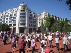 Immeuble, actuellement immeuble du Crédit Commercial de France -  Nature Capitale, Champs Elysees becomes a garden, Paris, May 22-24, 2010.