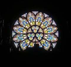 Eglise Saint-Eugène-Sainte-Cécile - Église Saint-Eugène Sainte-Cécile (rosace de l'orgue) - Paris IX
