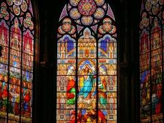 Eglise Saint-Eugène-Sainte-Cécile - Paris 9ème arrondissement - Eglise Saint-Eugène-Sainte-Cécile - Vitraux du chevet