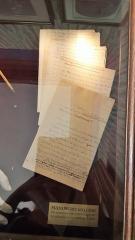Hôtel Renan-Scheffer, actuellement musée de la vie romantique - Manuscrit d' Albine, dernier roman inachevé de George Sand (commencé en 1876, publié à titre posthume en mars-avril 1881 dans