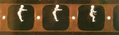Musée Grévin (voir aussi : passage Jouffroy) - Italiano: Fotografia della pellicola utilizzata da E.Reynaud per il suo Théatre Optique (Autur d'una cabine - 1894)